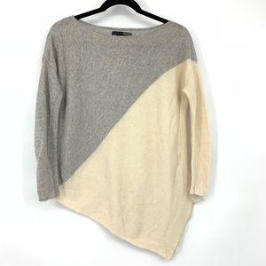 Alice + Olivia Color Block Asymmetrical Sweater